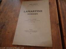 1927.Lamartine musicien (3 lettres à l'auteur).Charles Joatton