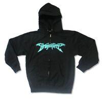 Dragonforce Planet Image Black Zip Up Sweatshirt Hoodie New Official