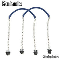 1 Pair Obag Silver Long Single Thick Chain With Metal Plating Screw For O bag