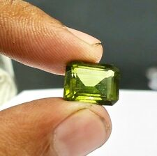 FINE 9.00 CTS NATURAL GREEN TOURMALINE OCTAGON CUT GEMSTONE FOR RING PENDANT
