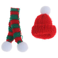 1/6 1/12 Dollhouse Miniature Christmas Hat + Scarf Dollhouse Accessories DecorSE