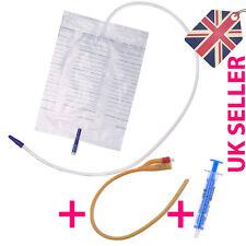 2000ml Urine Catheter Bag + Foley Catheter + Syringe CH08-CH24, Sterile