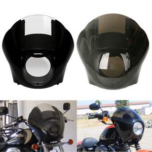 Smoke/Clear Quarter Fairing Windshield For Harley Sportster XL 883 XL 1200 88-Up