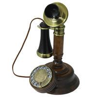 Opis 1921 Cable C Retro Holz und Plastik Telefon mit Wählscheibe + Metallklingel