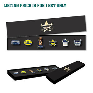 North Queensland Cowboys NRL Evolution Series Lapel Pin Badge Collection Set
