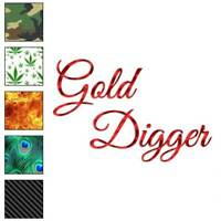 Gold Digger Decal Sticker Choose Pattern + Size #3527