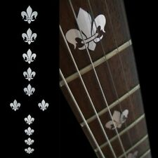 Fleur de Lys Metallic Guitar Fret board Markers Inlay stickers