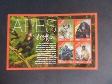 Liberia 2012 Apes of Africa Gorilla Chimp Baboon Sheetlet MNH UM unmounted mint