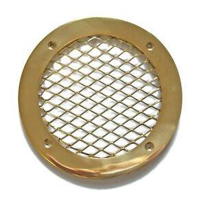 Vent cover grille type C1 - polished brass 140mm x 105mm AV100