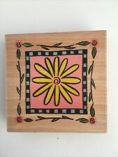 Summer Flowers Sunflower Large Rubber Stamp Card Making Scrapbooking Stamp