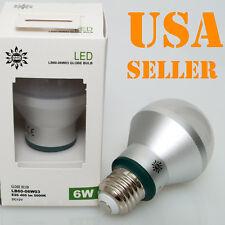 12V 24V DC 6W E27 Base Cool Pure White Day Light LED Light Bulb RV Boat Solar