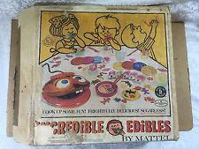 VINTAGE 1966 MATTEL INCREDIBLE EDIBLES TOY # 4557 w/ Sooper Gooper Oven Working
