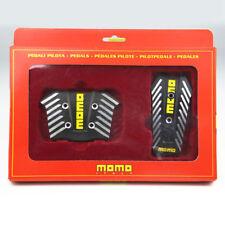 Negro Momo Aluminio Pedal De Freno Almohadilla Antideslizante Deporte cubre para el coche automático 2pc