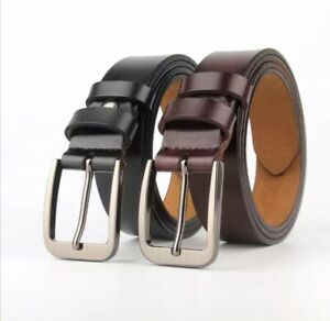 Mens 35mm Full Hide Real Leather Belt for Suits and Jeans size 28'' to 60''