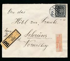 AUSTRIA 1924 REGISTERED EXPRESS DELIVERY 5000K SOLO FRANKING