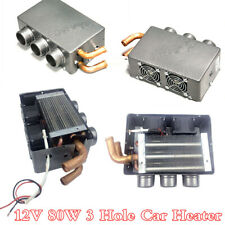 12V 80W 3 Hole Iron Compact Car Heater Heating Cooling Fan Defroster Demister