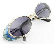 Jean Paul Gaultier Sunglasses 56-7109 2 Oval Sunglasses Grey Blue Steampunk