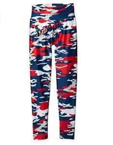 Zubaz NFL Women's Houston Texans Camo Print Legging Bottoms
