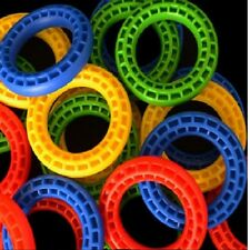 """5 LARGE TIRE RINGS-  Parrot Bird Toy Parts 2.5'' X 1.5"""" ID and 0.5"""" thick."""