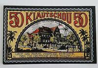 GERMANY BANKNOTE NOTGELD COLONY *KIAUTSCHOU* 50 PFENNIG 1922 *TSINGTAU* (11710)
