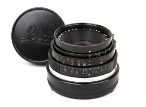 Ex Leica Summicron-M 35mm f/2 Black 6 Elements Made in Germany w/Caps