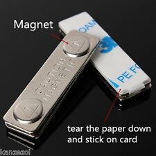 [NEW] Magnetic Name Tag Badge Fastener ID Holder Metal Card Strong Magnet