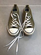 Womens Converse Trainers, Olive Green Size 6