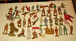 Barclay, Manoil,  toy soldiers, 44 figures, large collection,1940's, restore