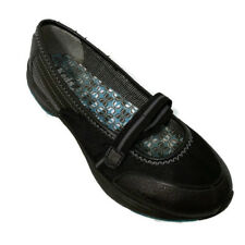 KEDS Black Womans 8M Leather Synthetic Casual Mary Janes Flats Hook & Loop Shoes