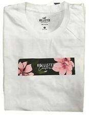 Hollister Mens T-Shirt Floral Print Logo Graphic Tee All Sizes Free Shipping