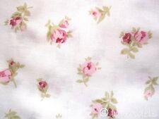 Stoff Baumwolle♥ Rosen weiß@Röschen Ökotex Standard100♥Baumwollstoff rosa