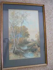 Large Watercolour by Lucia C. Coulson. Landscape. 1892