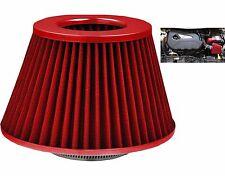 Universal Grandes Rojo/Kit De Inducción Cono De Acero Inoxidable + adaptadores de filtro de aire de admisión