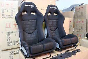 2x Bride Seat stradia lowmax, Black Fiberglass Bride Japan Genuine ADR approved