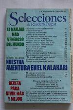 SELECCIONES DEL READER´S DIGEST readers español SEPTIEMBRE de 1985 FREE SHIPPING