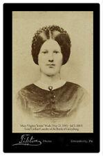 Jennie Wade Only Civilian Killed at Gettysburg Civil War Vintage Photo Card Cdv