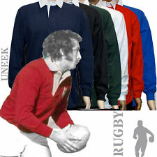 Long Sleeve Button Down Rugby Casual Shirts & Tops for Men