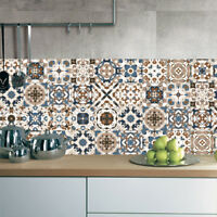 vintage moroccan style tiles stickers waterproof self adhesive wall sticker TDO