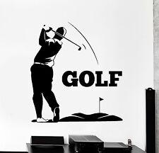 Vinyl Wall Decal Golfer Golf Club Player Golf Sport Stickers Mural (ig4477)