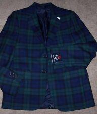 NWT Brooks Brothers $228 BLACKWATCH Plaid Wool Blazer/Suit Jacket Boys 12 SHARP