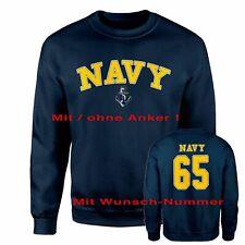Sweatshirt US Navy Wunschnummer Sweater Marines Seal Military