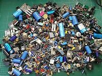 Lot Used Electronic Parts - Random Selection (over 500 in quantity)