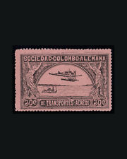 Vintage: Colombia 1920 Og Lhr Scott C15 $ 60 Lot #Col1920Lk