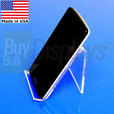 (50) Acrylic Easel Cell Phone Stand Mounts, Made In USA