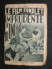 Vintage Foreign Movie Magazine Le Film Complet Jeanne Harlow 1936