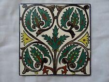 israel armenian IZNIK JERUSALEM KARAKASHIAN BROS vtg ceramic tile HAND PAINTED +