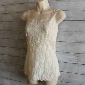 Hanky Panky Women's Signature Lace Camisole Top Size L Ivory