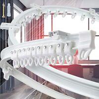 Top Clamping  500cm Biegbar Flexibel Vorhangschiene Leise Gardinenstange Set