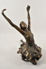 g10u09- Bronze Figur Balletttänzerin sign. Righetti, dat.´84