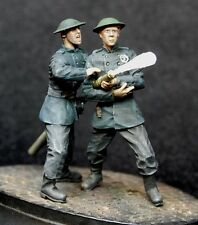 1/35 Scale resin model kit British 1940's National Fire Service NFS 2 Figs